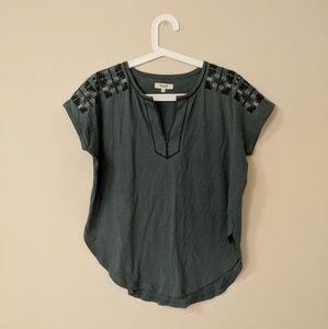 Madewell embroidery shirt